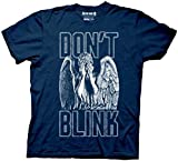 Mens T Shirt Casual Shirt Doctor Who Don't Blink Weeping Angel Covering Face Men's Navy Blue T-Shirt Short Sleeve T-Shirt