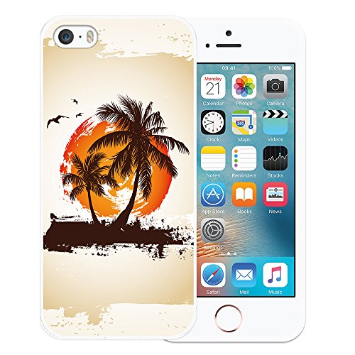 iPhone SE iPhone 5 5S Hülle, WoowCase® [Hybrid] Handyhülle PC + Silikon für [ iPhone SE iPhone 5 5S ] Husky-Hunde Sammlung Tier Designs Handytasche Handy Cover Case Schutzhülle - Transparent Housse Gel iPhone SE iPhone 5 5S Transparent D0005