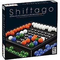 WiWa Spiele 790023 - SHIFTAGO - Bring Deine Strategie ins Rollen... (Spiel Brettspiel Strategiespiel für 2-4 Spieler mit 88 hochwertigen Glaskugeln Glasmurmeln Murmeln (Ø 22 mm)) by WiWa Spiele