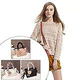 EdBerk74 Korean Fashion Vier Jahreszeiten Schulter Tragbare Umhängetasche Kleine Quadratische Tasche Haar Ball Dekoration Für Frauen-weiß