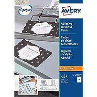 AVERY C32019-10 Lot de 100 étiquettes au format cartes de visite autocollantes Blanc mat 85 x 54 mm