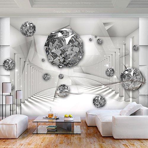 decomonkey Fototapete 3d Effekt Abstrakt 350x256 cm XL Design Tapete ...
