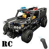 YeoMark Kit de Construction RC pour Voiture de Police avec télécommande électrique pour garçons âgés de 7 à 14 Ans, 433pcs
