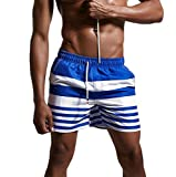 Men Swimming Short, Amlaiworld Mens Breathable Swim Trunks Pants Swimwear Shorts Slim Wear Bikini Swimsuit (XL, Blue)