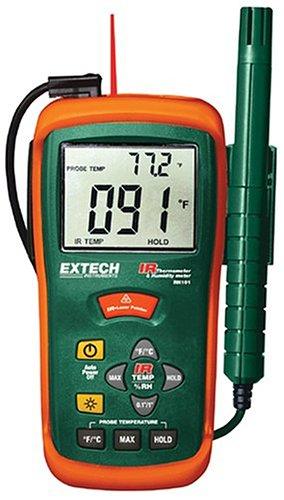 Extech Kombination aus Feuchtemessgerät und IR-Thermometer, 1 Stück, RH101 -