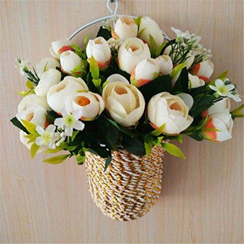 Emulation rose fiore a parete per il montaggio a parete di ferro di orchidee cesti floreali fiore salone di filatura della seta e