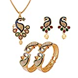 Best Necklace Set Of 2 - Fresh Vibes   Golden Peacock Marriage Wear Pendant Review