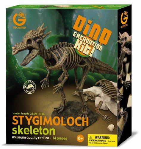 Imagen principal de Geoworld Dino Excavation Kit 23211282 Stygimoloch - Kit de excavación de esqueletos de dinosaurio (28 cm) [importado de Alemania]