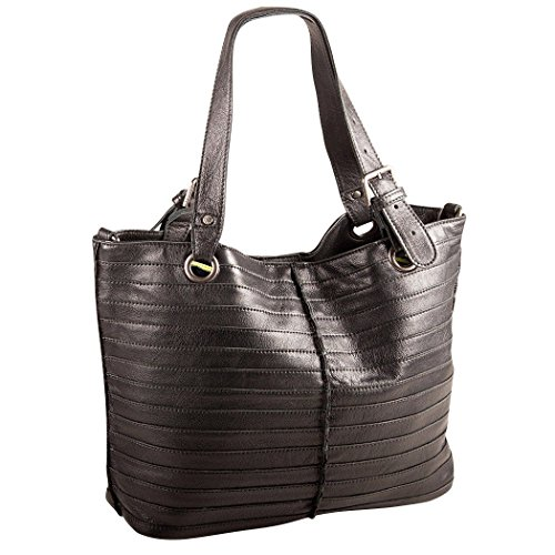 Fredsbruder Tasche - Shopzilla Stripes - Black Black (schwarz)