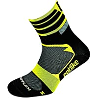 Catlike Supplex MTBLG Calcetines para Ciclismo, Unisex Adulto, Amarillo (Yellow Fluor/Black), LG