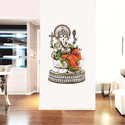 SYGA Multicolor Lord Ganesha Wall Stickers Ganpati sticker