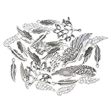Souarts 1 Set Antik Silber Farbe Flügel Schmuckzubehör Basteln Charms Anhänger Für Halskette Armband 20St