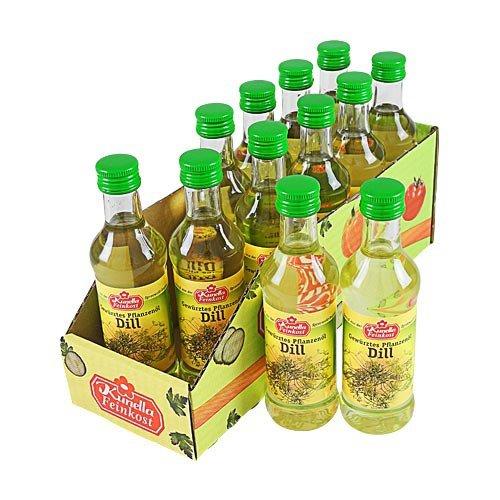 Kunella Gewürztes Pflanzenöl Dill 12er Pack (12 Flaschen à 100 ml)