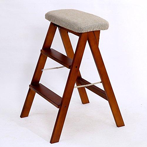 Preisvergleich Produktbild XIA Hocker Massivholz Schwamm Weich Holzfarbe Pfirsichfarbe Weiß Klappbarer Hocker ( Farbe : Peach color , größe : A )