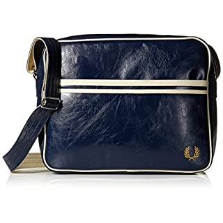 Fred Perry Men's Classic Shoulder Bag Messenger, Navy/Ecru, One Size