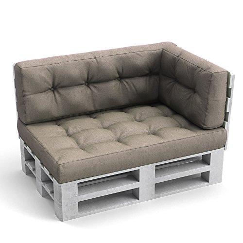 Palettenkissen Palettenmöbel Seitenkissen 60x40x20 cm Palettensofa Palettenpolster Kissen Sofa Polster Indoor Outdoor Farbe Sand
