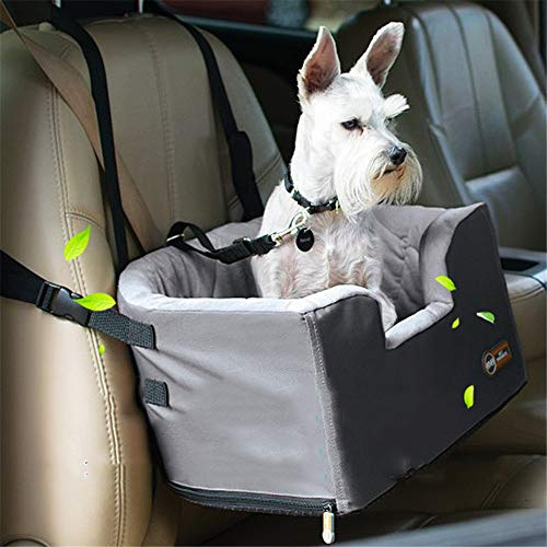 AUMING Haustier Auto Booster Seat Devoted Doggy Construction Haustier-Aufladungs-Sitz-Hundereise-Fördermaschinen-Taschen-Haustier-Reise-Hängematte mit Reißverschluss-Speicher-Tasche (Color : Gray) -