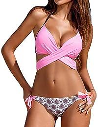 039c177952806 LANSKIRT Bikinis Bikinis Push Up Mujer Tanga Mujer 2019 Sujetadores Sin  Aros Sexys Traje De BañO Cruz