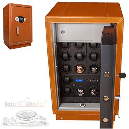 Safewinder® 18 DELUXE TAN Uhrenbeweger & Safe