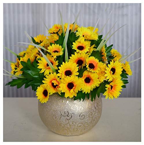 ADLFJGL Kunstblumen Im Topf,Brautblumenstraußwohnzimmereinrichtung Der Künstlichen Blume Der Künstlichen Blume Der Sonnenblumenblume Tischdekoration Gefälschte