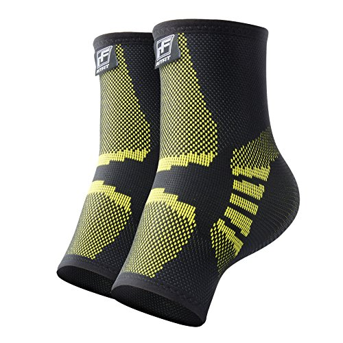 Ritfit Ankle Compression Brace - Premium Plantar Fasciitis Sleeve - Comfortable - Perfect Support for Injury Recovery & Prevention, Joint Pain,Achilles Tendon Support Pain (Sold By Pair) Test
