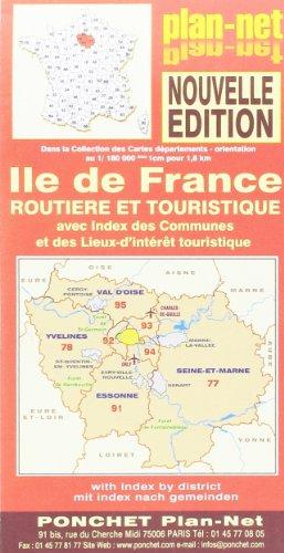 Ile de France Carte Routiere et Touristique