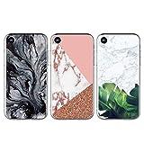Coque pour iPhone XR TPU, GuardGal Gel Flexible Doux Marbre Peint Beau Motif...
