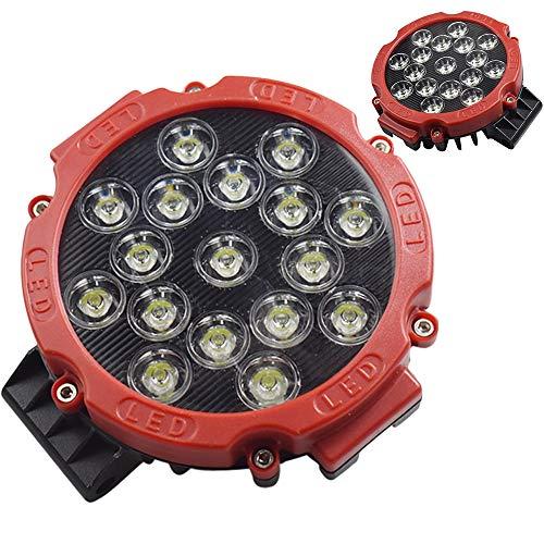 Motorrad-Scheinwerfer, 51 W High Power 2000LM Motorrad-Scheinwerferlampe Lampe Licht für Straßen-Trucks Off-Roroad modifizierten Scheinwerfern Rooflight Scheinwerfer Auto-Scheinwerfer Mit,2PCS -