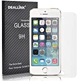 iPhone 5/5S/5C Screen Protector / Deallink Tempered Glass Screen Guard with High 9H Hardness (0.3mm HD Ultra Clear)