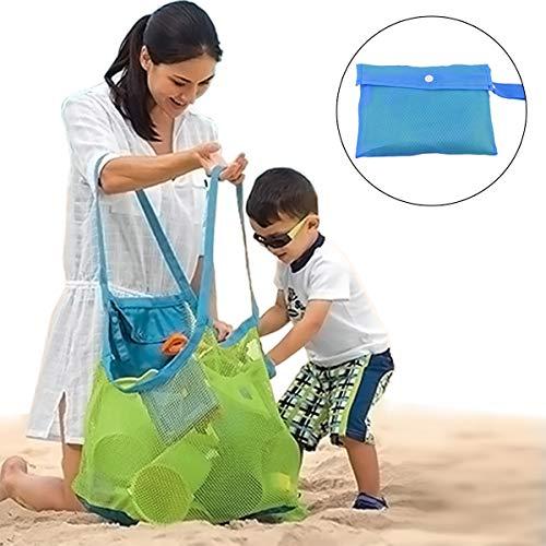 Zoiibuy Übergroße Strand Aufbewahrung Taschen XXL Faltbar Strandspielzeug Netztasche Aufräumsack Beach Mesh Bag für Kinder Spielzeug, Wasserbälle, Kleidung, Strandtücher, Kleidung, Picknick