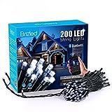 Brizled Guirlande Lumineuse Bluetooth électrique 30M 200 LED 8 Modes Guirlande Lumineuse Controlé par APP pour décor l'Arbre de Noël (Blanc Froid)