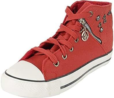 Benton Women's Maroon Canvas Sneakers - 3 UK