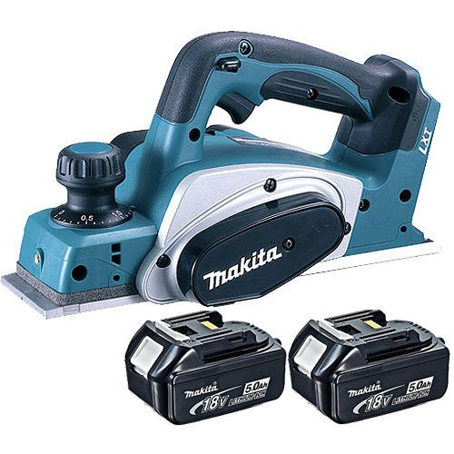 Makita DKP180Z LXT 18V Li-Ion Cordless Planer 82mm Body With 2 x 5.0Ah BL1850 Batteries