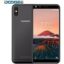 Moviles Libres Baratos, DOOGEE X53 Android 7.0 3G Smartphone, Pantalla HD de 5.3 Pulgadas (Relación de Aspecto 18: 9), MTK6580M Quad-core, 1GB RAM+16GB ROM, 5MP+5MP Cámara dual - Negro