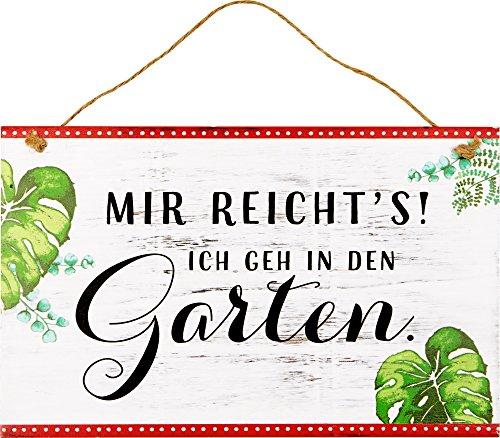 Spiegelburg 14846 Gartenschild \'Mir reicht\'s! ...\' I love my Garden