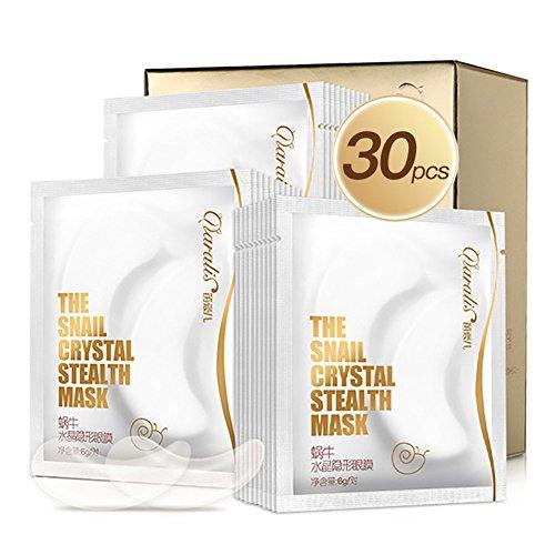 30 Paar Kollagen Eye pad Augenpads, Snail Firming Anti-Falten-Augenmaske zur Beseitigung von Falten Black Eye und Extra Fat