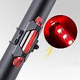 Mercery USB-Aufladbare Wasserdichte Fahrrad-Rücklicht Leistungsfähiges Super Helles LED-Fahrrad-Rücklicht klippt Leicht auf Rotem Rücklicht Optimaler Radfahrensicherheits-Gebirgsfahrrad