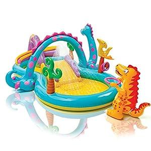 Gioco gonfiabile Intex Dinoland Play Center, con piscina e scivolo art 57135np
