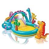 Intex 57135 Piscine gonflable Dinoland avec toboggan, pour enfants, 333x229x112cm