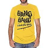 T-Shirt Kill Bill Bang Bang Song Soundtrack - Film Choose ur Color - Uomo-L-Gialla