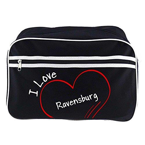 Preisvergleich Produktbild Retrotasche Modern I Love Ravensburg schwarz