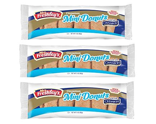 Mrs. Freshley\'s Cinnabon Cinnamon Mini Donuts (93g) [3-Pack] …