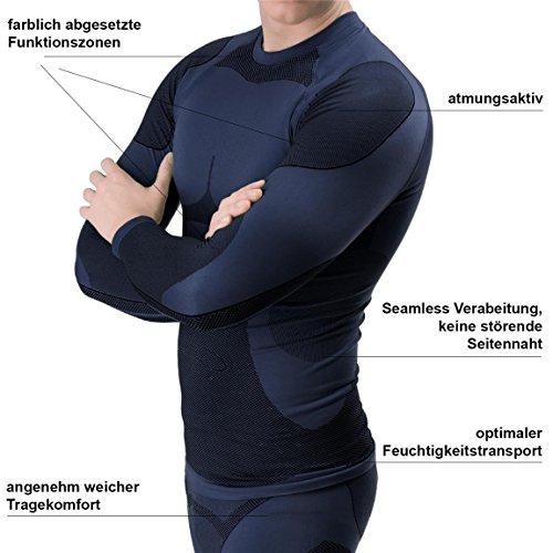 BlackSnake® Funktionsunterwäsche Herren Unterhemden Seamless Unterwäsche Sport Navy