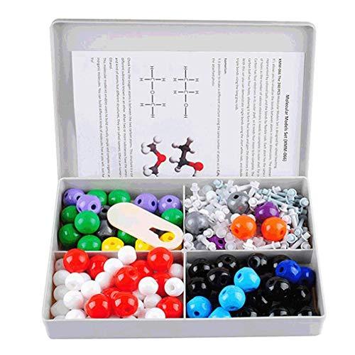Poualss Satz von 240 Pcs Chemie-Modellbausatz mit Atom, Biochemie, allgemeiner und organischer Chemie-Bildungsmolekül-Set Science Toys
