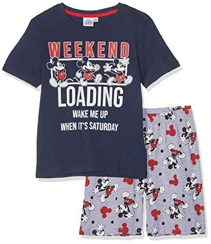 Disney Mickey Jungen 5773 Zweiteiliger Schlafanzug, Marine blau, 104 - Marine-blau-jungen-schlafanzug