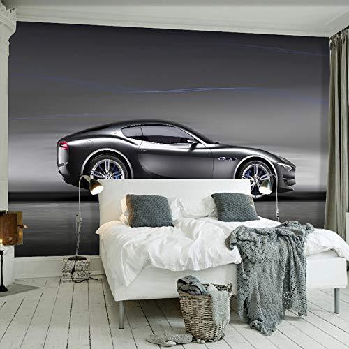 Aliworte 3D Tapete Wandbild Dekoration Wandtattoo Wandmalerei Wand-Aufkleber Kundenspezifischer Foto-Ziegelstein-Auto-Schwarz-Roboter Gebrochener Kinderhintergrund-Dekor 200cmX150cm - 1472/3 Auto