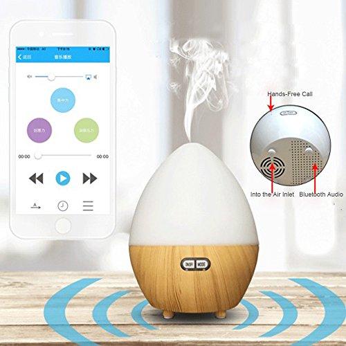 Wifi umidificatore, Rcool Woodgrain woodgrain macchina aromaterapia umidificatore intelligente Bluetooth umidificatore audio macchina aromaterapia