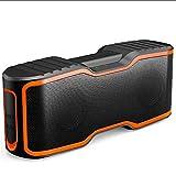 XAJGW Sport Tragbare Bluetooth Lautsprecher 20 Watt Subwoofer Spalte Stereo Soundbar Drahtlose Lautsprecher Wasserdichte Outdoor Lautsprecher (Farbe : Orange)