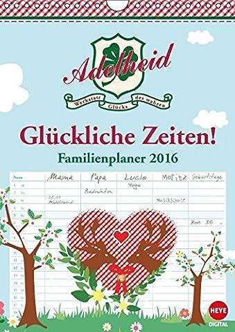 Adelheid Familienplaner (Wandkalender 2016 DIN A4 hoch): Der Kalender für die glückliche Familie! (Monatskalender, 14 Seiten) (CALVENDO Spass)