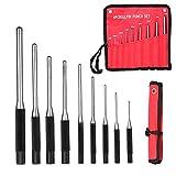 Magiin 9-teilig Durchschlag Splinttreiber Set Werkzeug für Pistole Büchsenmacher Handwerk und Reparaturen mit Tragetasche